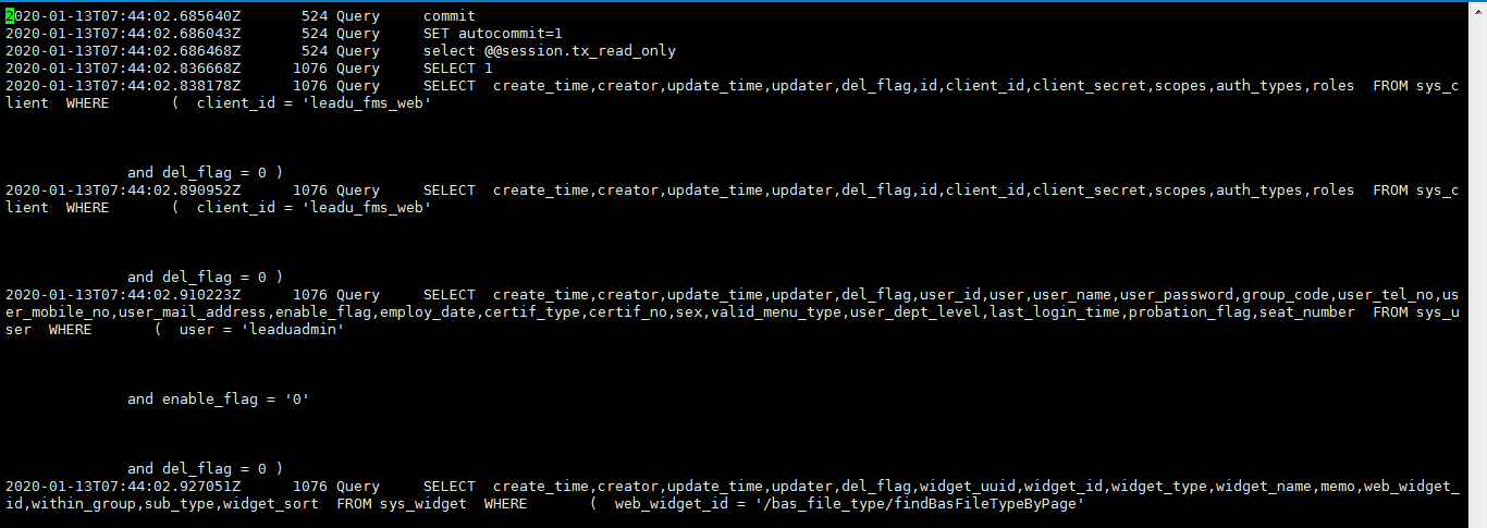 MySQL中的日志类型(二)General query log
