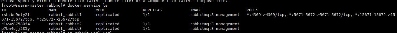docker swarm部署rabbitmq集群